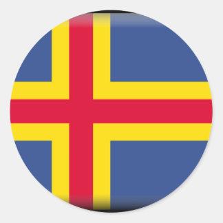 Aland Islands Flag Sticker