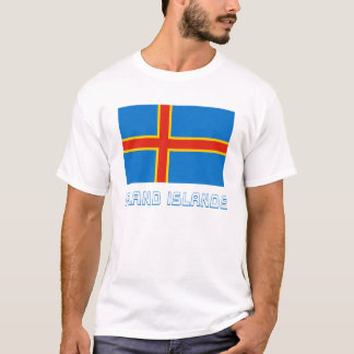 Aland Islands Flag with Name T-Shirt