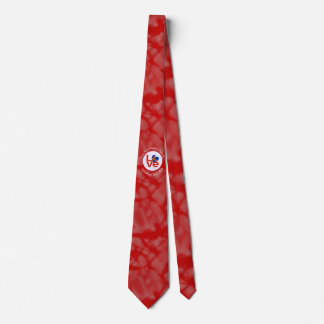 Aland Islands LOVE White on Red Neck Tie