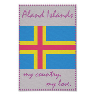 Aland Islands My Country My Love Poster