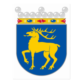 Aland Official Coat Of Arms Heraldry Symbol Postcard