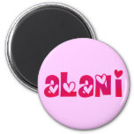 Alani in Hearts Fridge Magnet