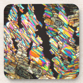 Alanine Amino Acid under a Microscope Beverage Coaster