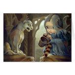 """""""Alannah and the Gargoyle"""" Greeting Card"""