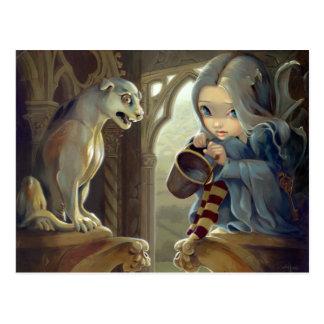 Alannah and the Gargoyle Postcard