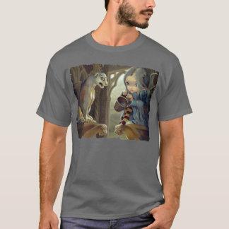 Alannah and the Gargoyle SHIRT gothic fairy art