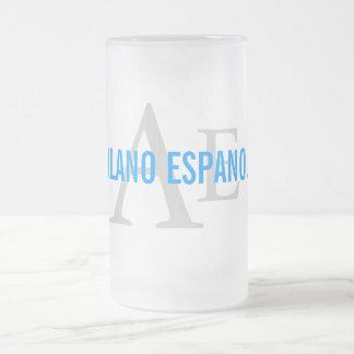 Alano Espanol Breed Monogram Frosted Glass Beer Mug