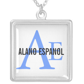 Alano Espanol Breed Monogram Silver Plated Necklace