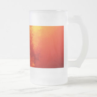 Alan's Art For Your Sips! Frosted Glass Beer Mug