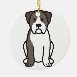 Alapaha Blue Blood Bulldog Dog Cartoon Ceramic Ornament