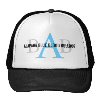 Alapaha Blue Blood Bulldog Monogram Trucker Hat