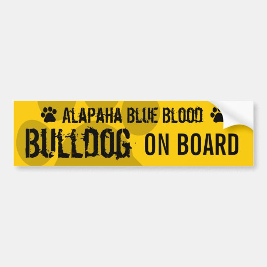 Alapaha Blue Blood Bulldog on Board Bumper Sticker