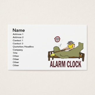 Alarm Clock Business Card