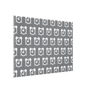 Alarm Clock grey white Canvas Print