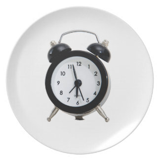 Alarm Clock. Melamine Plate
