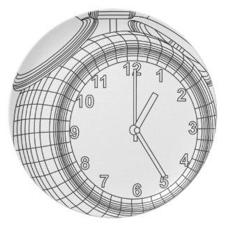 alarm clock melamine plate