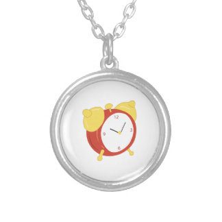 Alarm Clock Round Pendant Necklace