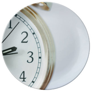 Alarm clock on a side dinner plate