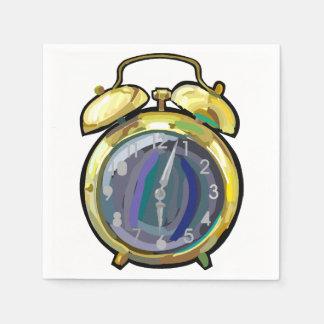 Alarm Clock Paper Napkins
