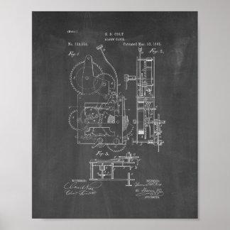 Alarm Clock Patent - Chalkboard Poster
