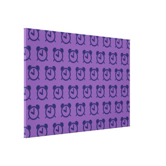 Alarm Clock purples 2 Canvas Print