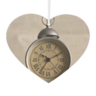 Alarm clock with roman numerals car air freshener