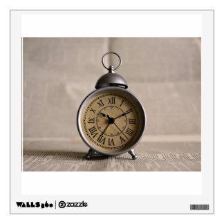 Alarm clock with roman numerals wall sticker