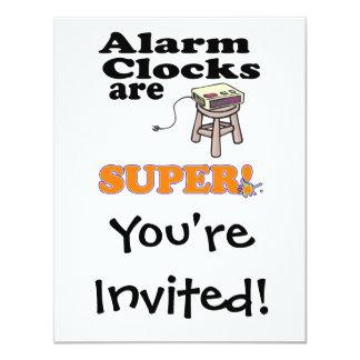 alarm clocks are super card