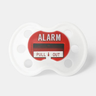 Alarm pull out pacifier in white BooginHead pacifier