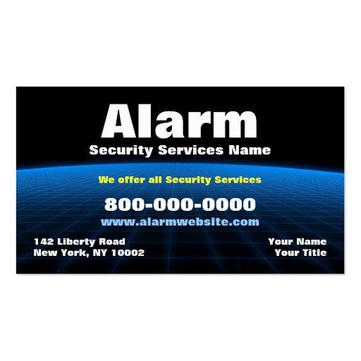 Alarm / Security /Tech Business Card