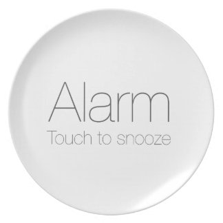 Alarm, touch to snooze ! dinner plate