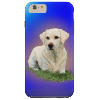 Alarma blanca de Labrador Funda Para iPhone 6 Plus Tough