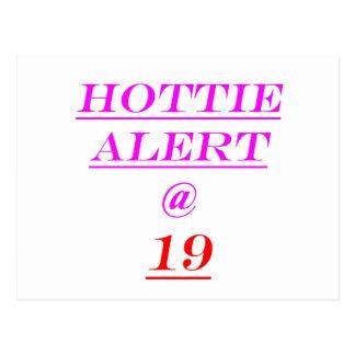 Alarma de 19 Hottie Tarjetas Postales