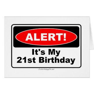 ¡ALARMA de 21 regalos de cumpleaños! Su mi 21ro Tarjeta De Felicitación