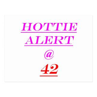 Alarma de 42 Hottie Tarjeta Postal