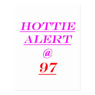 Alarma de 97 Hottie Tarjetas Postales