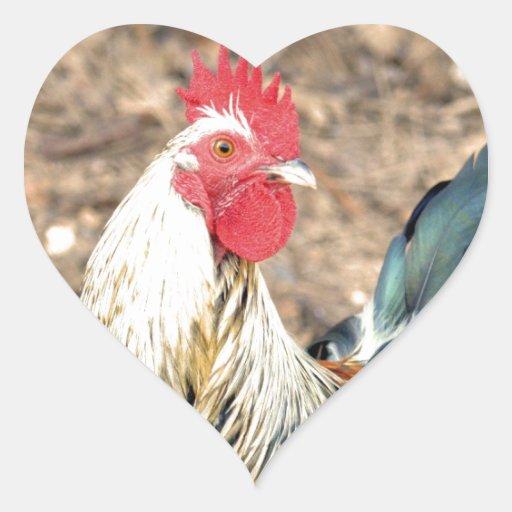 Alarma de cinco pegatina en forma de corazón