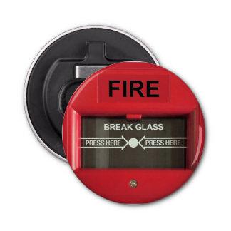 Alarma de incendio abrebotellas redondo
