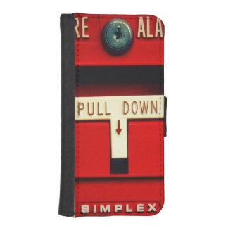 Alarma de incendio billetera para teléfono