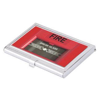 Alarma de incendio cajas de tarjetas de negocios