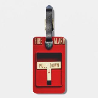 Alarma de incendio etiquetas bolsa