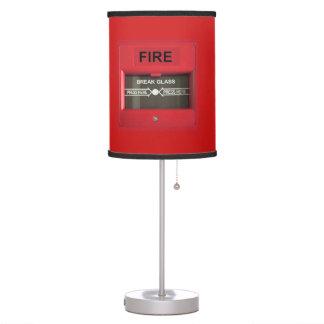 Alarma de incendio lámpara de escritorio