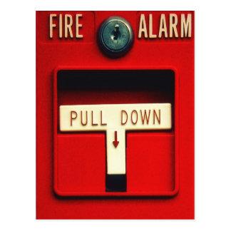 Alarma de incendio postales