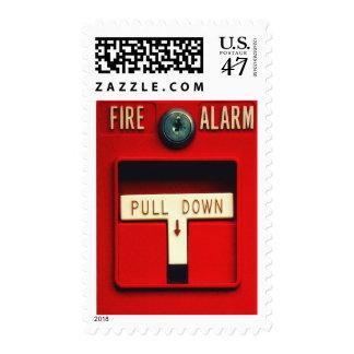 Alarma de incendio sello postal