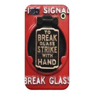 Alarma de incendio - vidrio de la rotura iPhone 4/4S carcasa