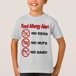Alarma de la alergia alimentaria playeras