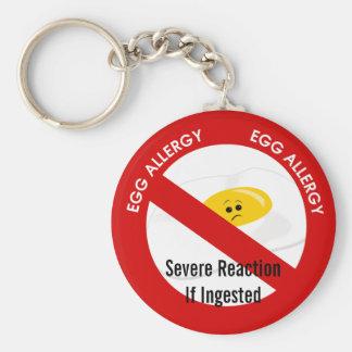 Alarma de la alergia del huevo llavero