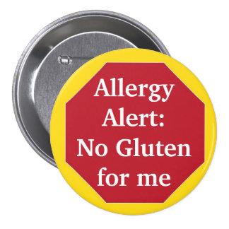 Alarma de la alergia:  Ningún gluten Pins