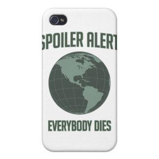 Alarma del alerón de la tierra: Todos muere iPhone 4 Carcasas