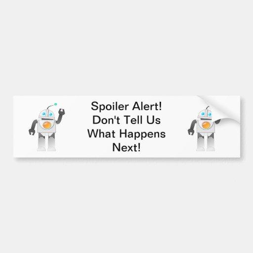 Alarma del alerón - etiqueta engomada de parachoqu pegatina de parachoque